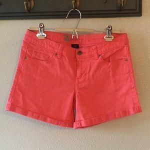 Mossimo Coral Pink Denim Shorts